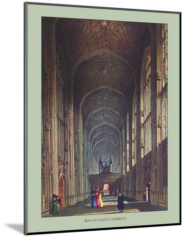 Inside King's College--Mounted Art Print
