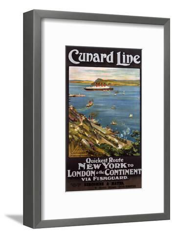 Cunard Line--Framed Art Print