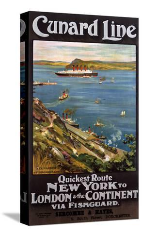 Cunard Line--Stretched Canvas Print