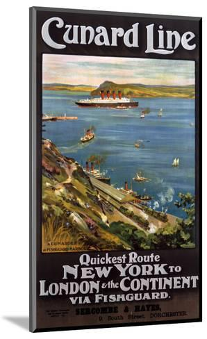 Cunard Line--Mounted Art Print
