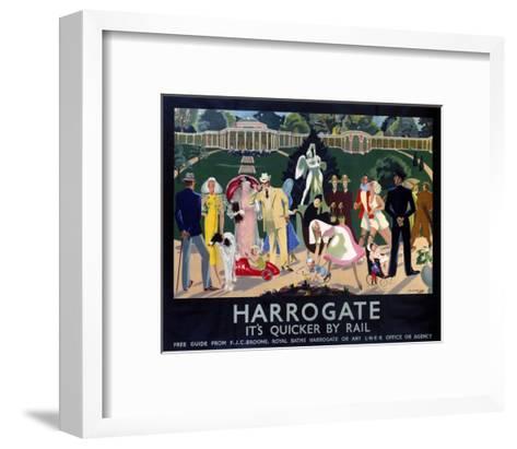 Harrogate Busy Park--Framed Art Print