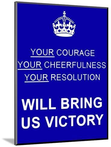 Courage--Mounted Art Print