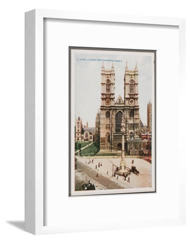 London, West Minster Abbey--Framed Art Print