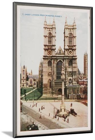 London, West Minster Abbey--Mounted Art Print