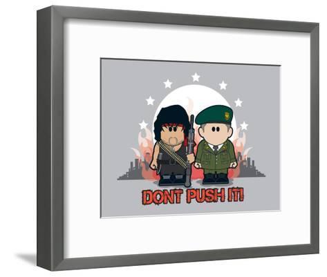 Weenicons: Don't Push It!--Framed Art Print