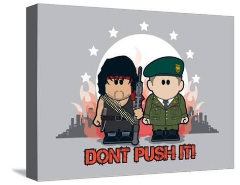 Weenicons: Don't Push It!--Stretched Canvas Print