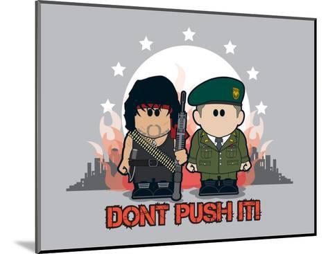 Weenicons: Don't Push It!--Mounted Art Print