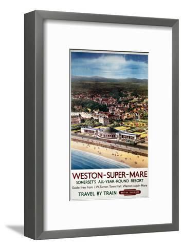 Weston-Super-Mare, Somerset's All-Year-Round Resort--Framed Art Print