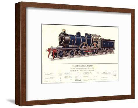 Express Passenger Locomotive, No.1853, Great Eastern Railway--Framed Art Print