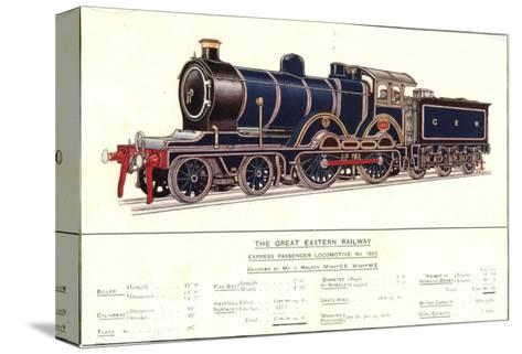 Express Passenger Locomotive, No.1853, Great Eastern Railway--Stretched Canvas Print