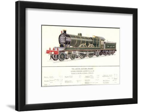 Express Passenger Locomotive, No.730, North Eastern Railway--Framed Art Print