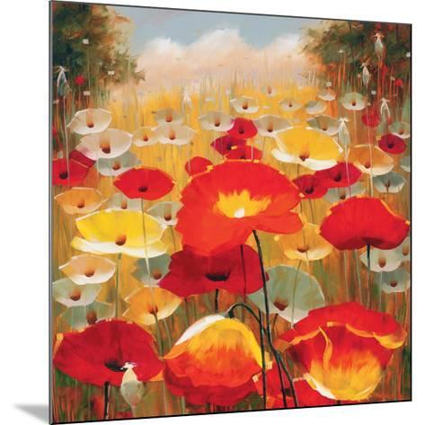 Meadow Poppies IV-Lucas Santini-Mounted Art Print