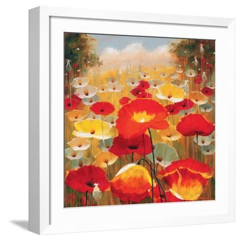 Meadow Poppies IV-Lucas Santini-Framed Art Print