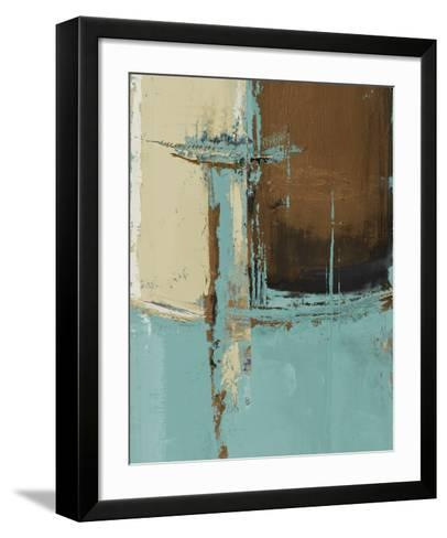 Oxido on Teal I-Patricia Pinto-Framed Art Print