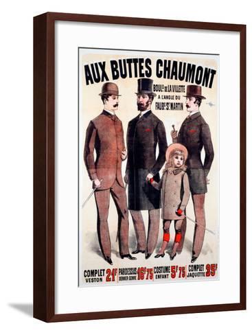 Aux Buttes Chaumont--Framed Art Print