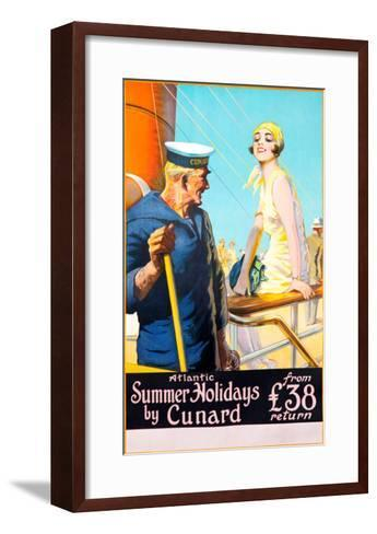 Atlantic Summer Holidays--Framed Art Print