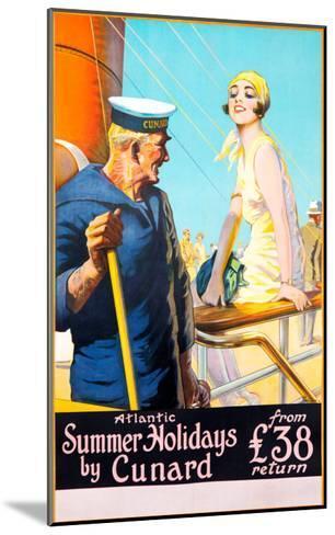 Atlantic Summer Holidays--Mounted Giclee Print