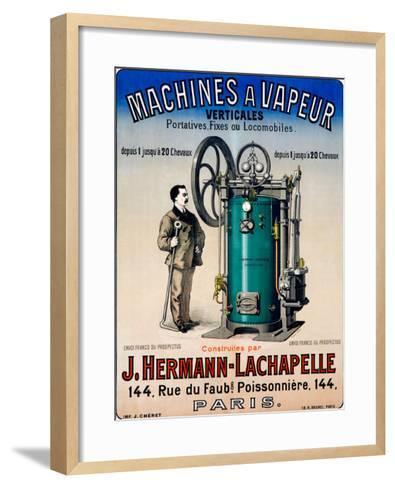 Machines a Vapeur--Framed Art Print