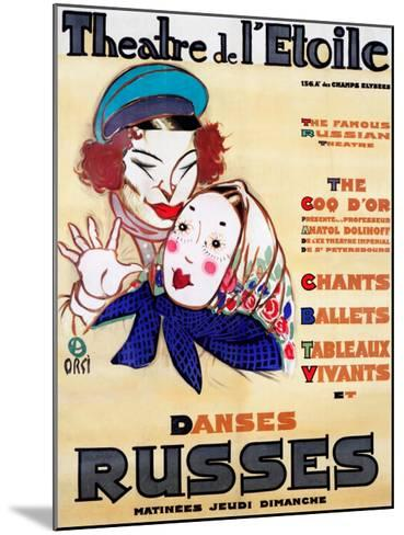 Danses Russes--Mounted Giclee Print