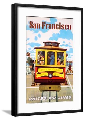 San Francisco United Air Lines--Framed Art Print