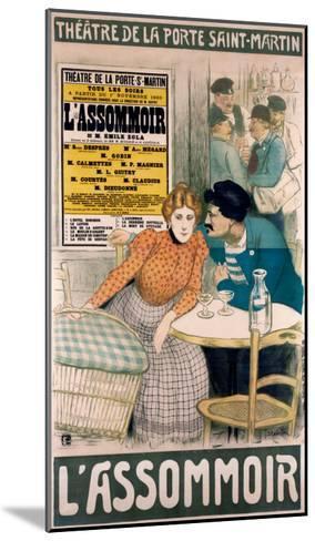 L'Assommoir--Mounted Giclee Print