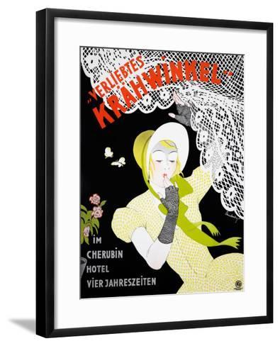 Verliebtes Krahwinkel--Framed Art Print
