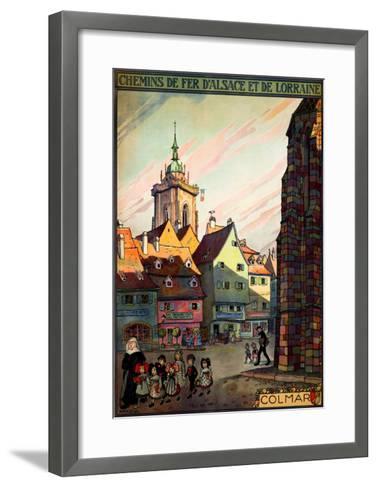 Chemins de Fer d'Alsace--Framed Art Print