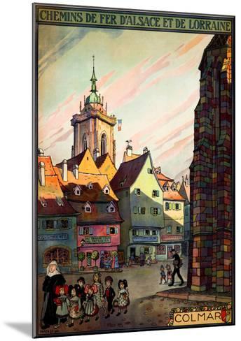 Chemins de Fer d'Alsace--Mounted Giclee Print
