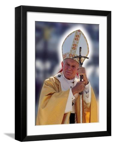 Pope John Paul II--Framed Art Print