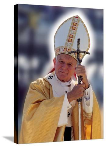Pope John Paul II--Stretched Canvas Print