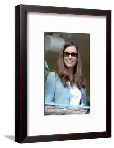 Kate Middleton, in the Royal box at Cheltenham Racecourse--Framed Art Print