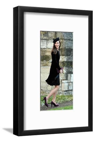 Kate Middleton, Attending Friend's Wedding--Framed Art Print
