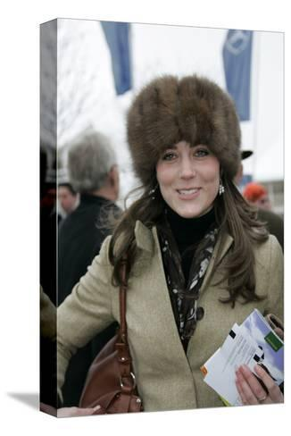 Kate Middleton at the Cheltenham Festival on Gold Cup Day--Stretched Canvas Print