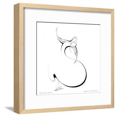 Dancing Couple II-Alijan Alijanpour-Framed Art Print