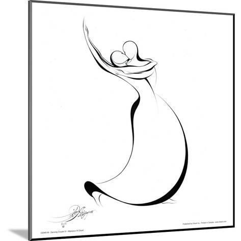 Dancing Couple IV-Alijan Alijanpour-Mounted Art Print
