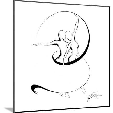 Dancing Couple V-Alijan Alijanpour-Mounted Art Print