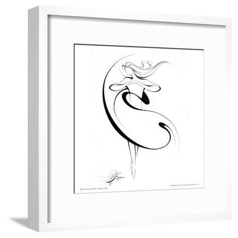 Dancing Silouhette II-Alijan Alijanpour-Framed Art Print