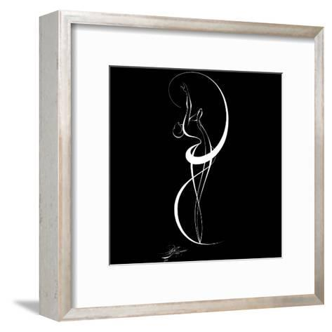 Dancing Silouhette III-Alijan Alijanpour-Framed Art Print