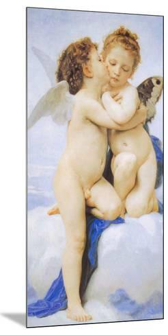 The First Kiss-William Adolphe Bouguereau-Mounted Art Print