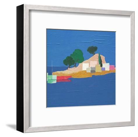 Aegean Seaside IV-Marko Viridis-Framed Art Print