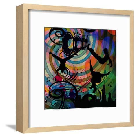 Party Time III-Jefd-Framed Art Print