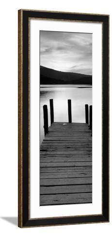 Sunset with Wooden Jetty, Derwenwater-Granville Harris-Framed Art Print
