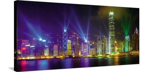 Victoria Harbour by Night-Scott E^ Barbour-Stretched Canvas Print