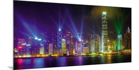 Victoria Harbour by Night-Scott E^ Barbour-Mounted Art Print