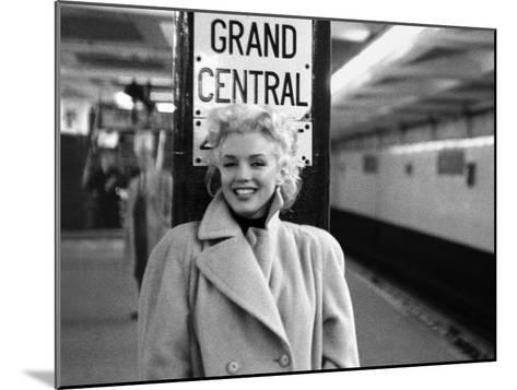 Marilyn Monroe, Grand Central-Ed Feingersh-Mounted Art Print