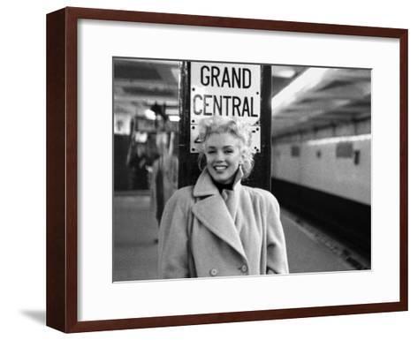 Marilyn Monroe, Grand Central-Ed Feingersh-Framed Art Print