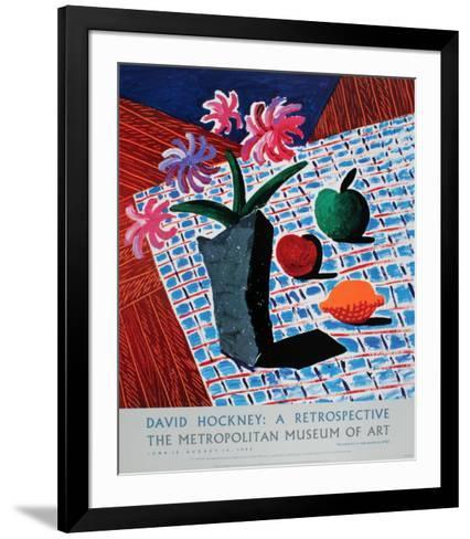 Still Life with Flowers-David Hockney-Framed Art Print