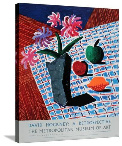 Still Life with Flowers-David Hockney-Stretched Canvas Print