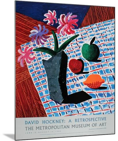 Still Life with Flowers-David Hockney-Mounted Limited Edition
