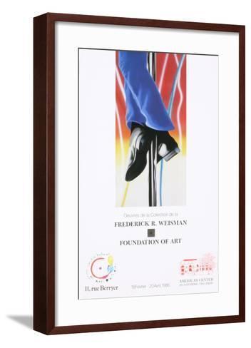 Study for Fire Pole-James Rosenquist-Framed Art Print